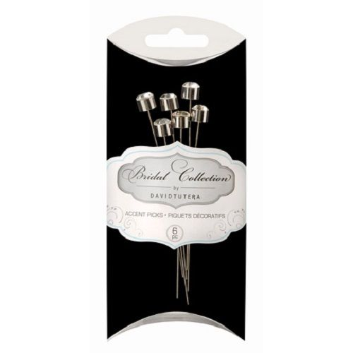 Something Blue - David Tutera - Bridal Collection - Glass Stone Accent Pick - Crystal