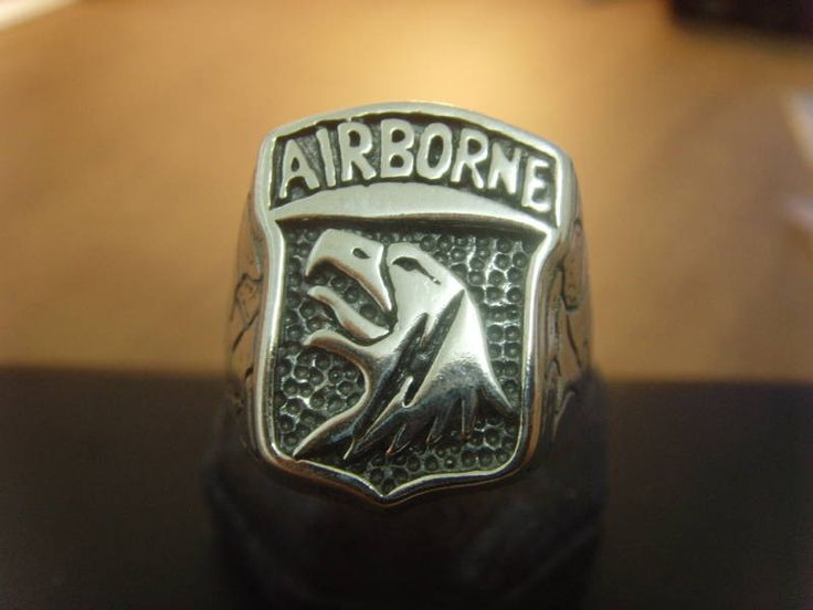 101st Airborne EAGLE DIVISION ring sterling silver 925