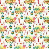Happy Birthday Organic Swaddle & Burp Cloth Set