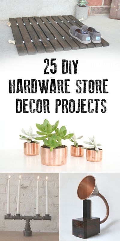 25 diy hardware store decor projects copper doors and roshe for Diy wood door projects