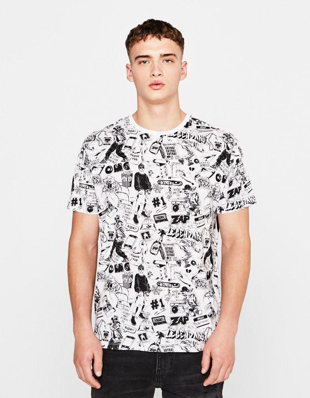 c843c0846 Camisetas de hombre - Otoño Invierno 2017 | Bershka | All Over print ...