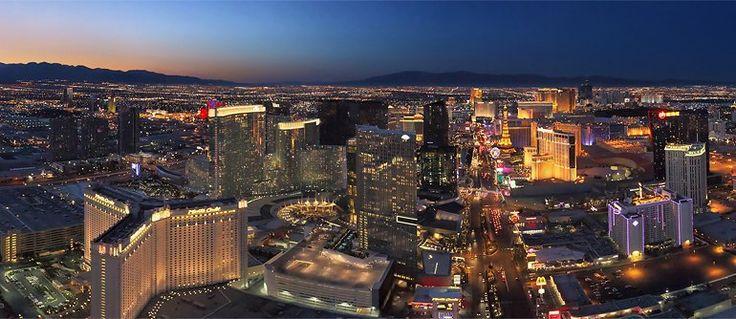 Las Vegas at Dusk and Night  - AirPano.com • 360° Aerial Panoramas • 3D Virtual Tours Around the World