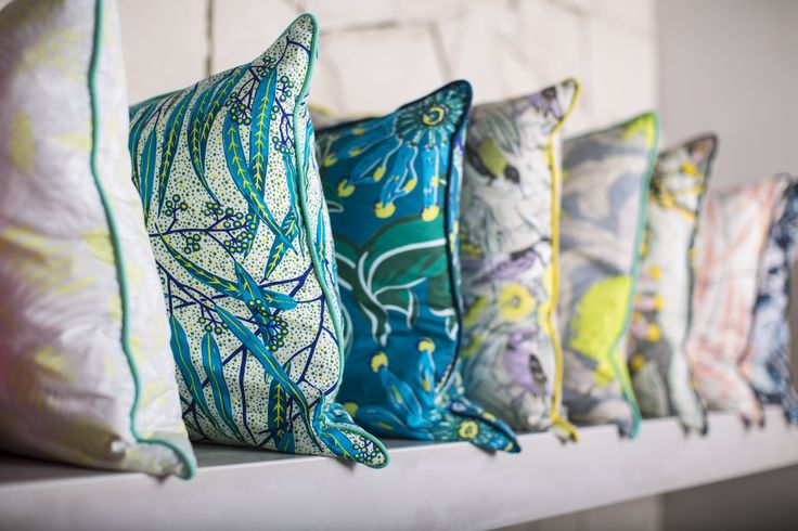 Utopia Goods Summer 2013/14 new cushions featuring the firewheel, eucalyptus, state of waratah and the fern.