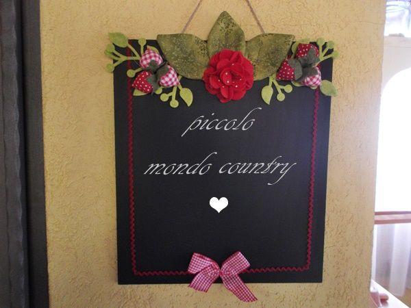 lavagna decorata , PICCOLO MONDO COUNTRY
