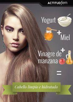 Yogurt + Miel + Vinagre de manzana = Mascarilla casera para cabello graso