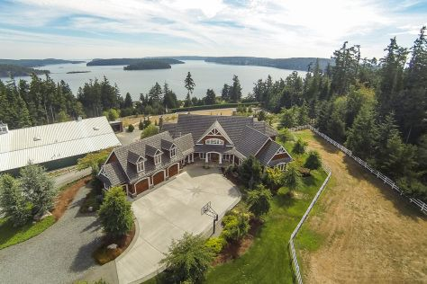 Gibralter Esquestrian Estate For Sale is exqusite. The custom home is on 16 acres wth panoramic 180 degree views of Saratoga Passage, Similk Bay and Skagit and Hope Islands.