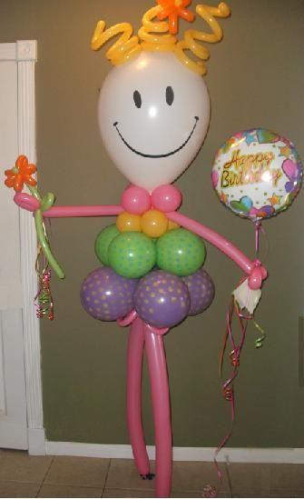 #CH22 - 6ft Smiley Face - Polka Dot Skirt - Any Occasion Girl