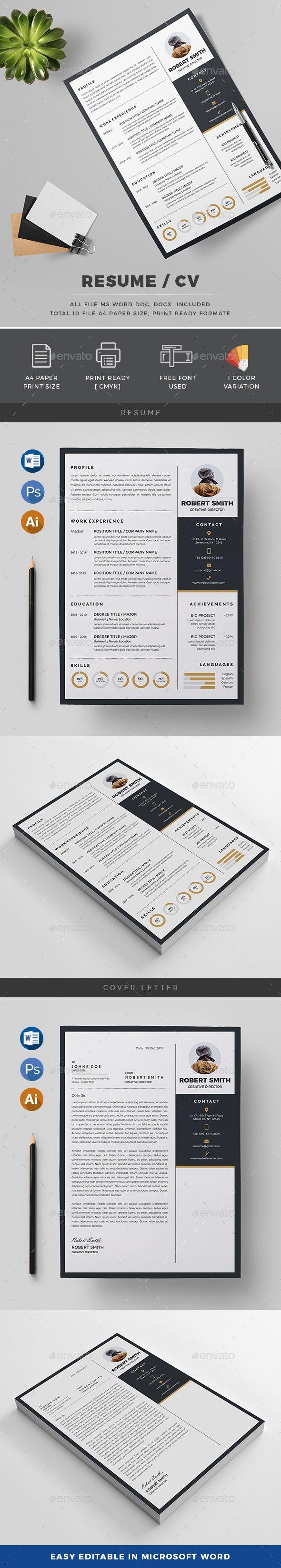 142 Best Resume Builders Images On Pinterest Resume Cv Creative