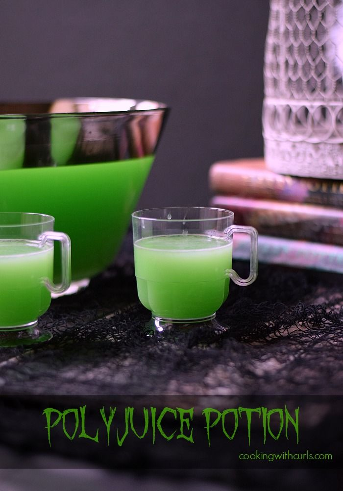 green polyjuice potion a spooky halloween cocktail for a party lime sherbet vodka - Halloween Party Punch Alcohol