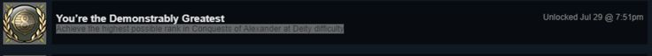 I decided I wanted to earn all the Civilization VI steam achievements. So far so good. #CivilizationBeyondEarth #gaming #Civilization #games #world #steam #SidMeier #RTS