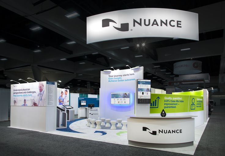Nuance recently looked to MG to help create a journey experience for AHIMA Convention that navigated the changes in healthcare and positioned Nuance as a partner every step of the way. The booth was physically divided into two journeys. The HIM documentation journey went to the right and was color coded green. The physicians' perspective journey went to the left and was color coded blue.  partnerships. http://www.mgdesign.com