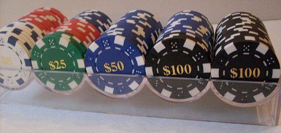 PrimiTive Folkart 100ct Clay Poker Chips  by TheWAREHOUSEShelf, $34.95