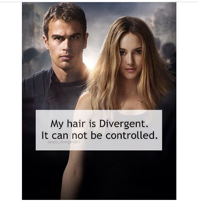 Sad but true, My hair is Divergent. It can not be controlled.