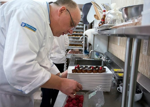 Fresh raspberries are the perfect garnish for this chocolate confection #royalcaribbean