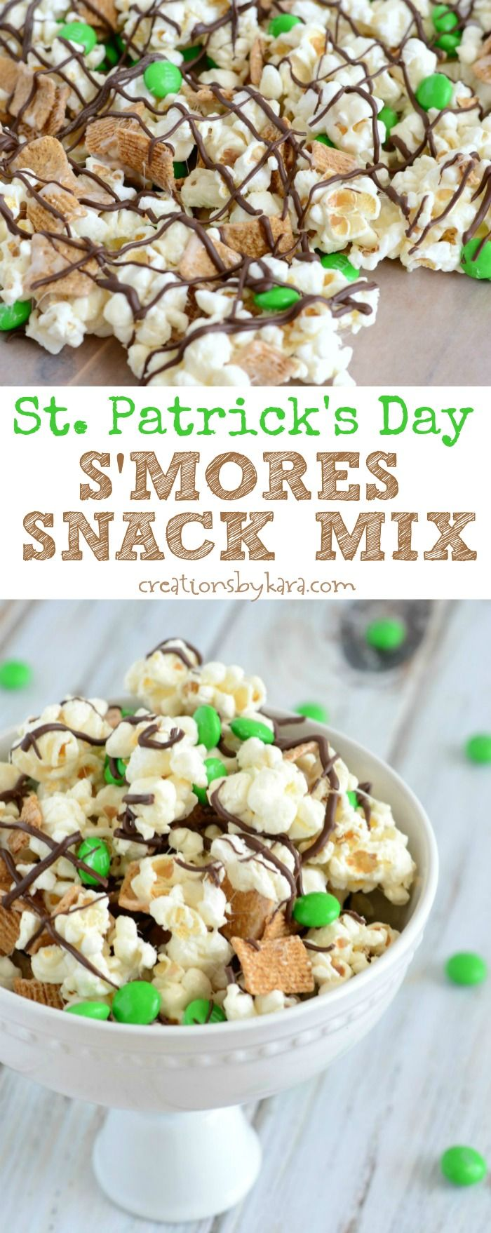This St. Patricks Day Smores Snack Mix is easy to make, and so yummy!