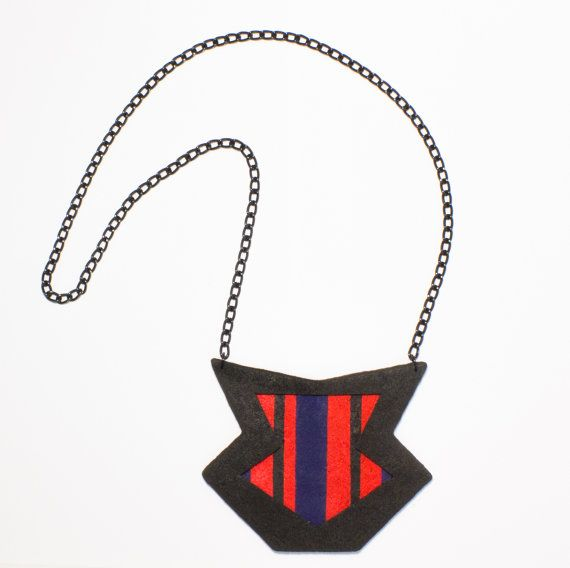 Polymer clay fashion statement geometrical by DesignsbyLimeLight