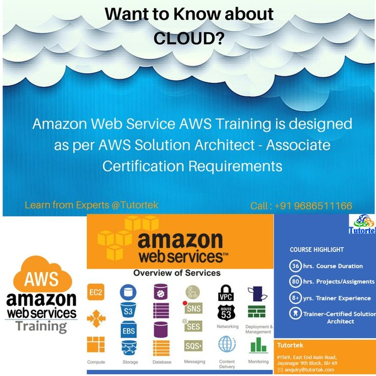 Tutortek providing you Tutortek is a premium AWS Training Institute,Conducting 40 hrs of intensive Amazon Web Services Training in Jayanagar,Bangalore with 100% Palcement Support.