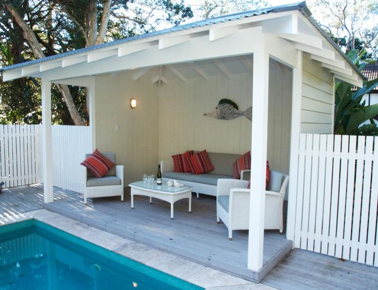 Best 10 pool shed ideas on pinterest pool house shed for Outdoor cabana designs