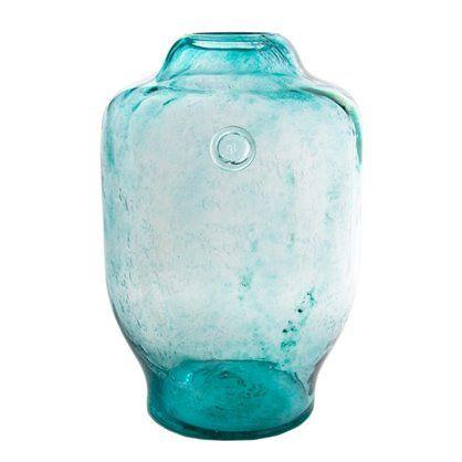 Wazon szklany 40, turquoise