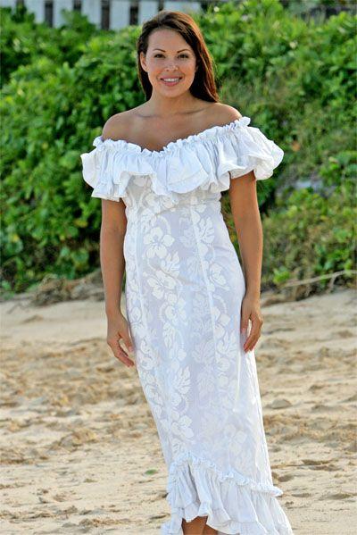 8 best images about hawaiian wedding on pinterest for Hawaiian dresses for weddings