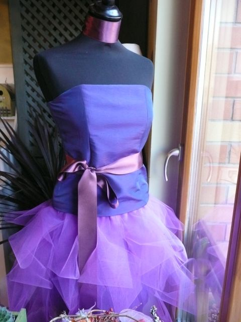 Taft ruha, tothemese, meska.hu #taffeta #tulle #purple #dress