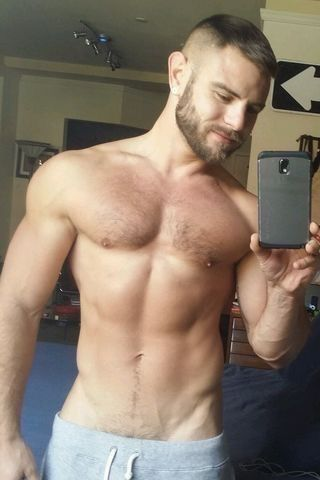 handsome,great haircut and beard nice body.husband material!