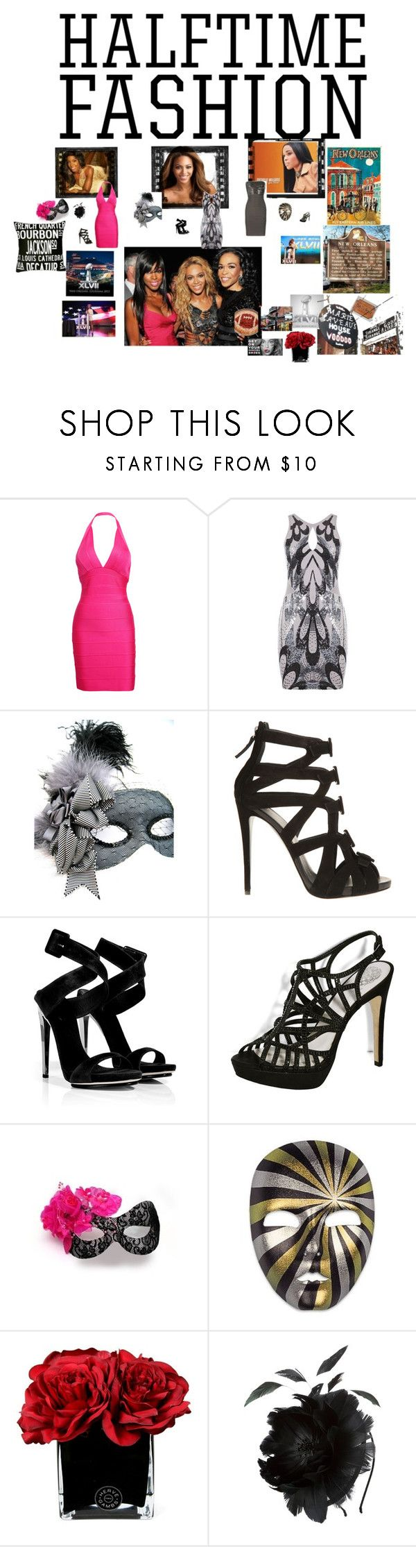 """""""SuperBowl N'awlinslChic 2013"""" by greenchicdesignz ❤ liked on Polyvore featuring Lipsy, Masquerade, Giuseppe Zanotti, Vince Camuto, Hervé Gambs, John Lewis, 2013, kelly rowland, february 13 and super bowl xlvii"""