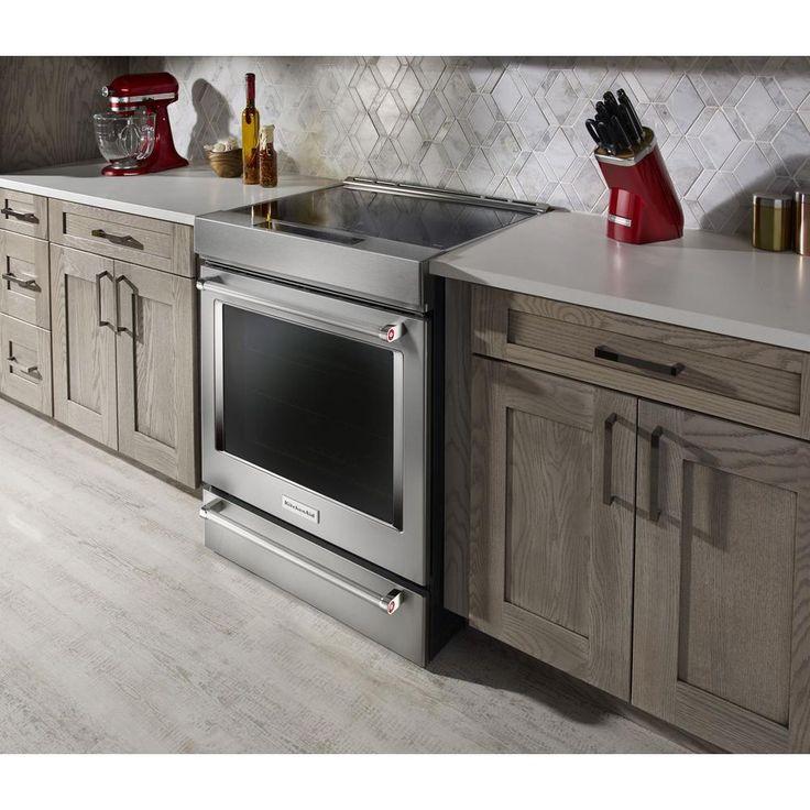 Kitchenaid 71 cu ft slidein induction range with self