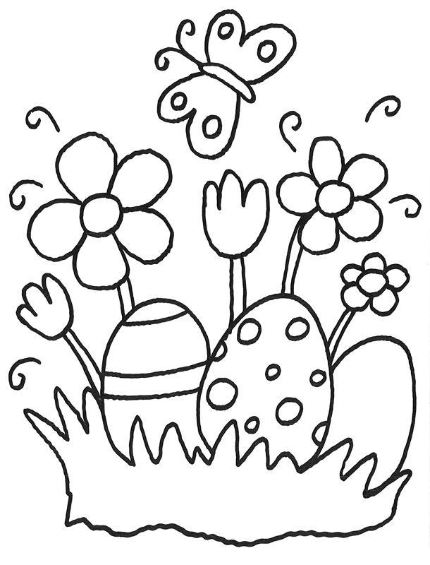 Malvorlage Ostereier Und Ostern Pinterest