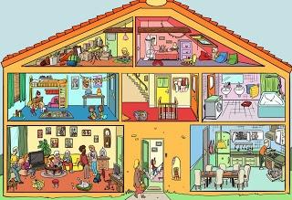Huis, praatplaat
