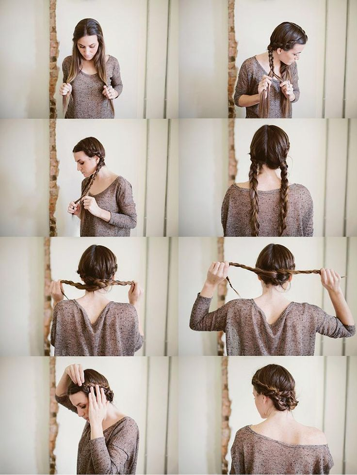 twisted maiden braid bun
