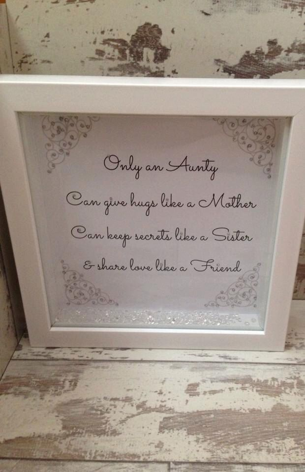 Baby Gift Aunt : Aunty inch box frame special verse gift for an