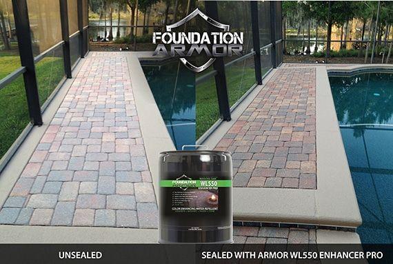Armor Wl550 Wet Look Enhancer Sealer Pro 5 Gal Concrete Pavers