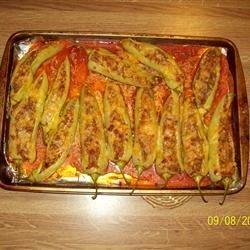 Stuffed Hot Banana Peppers Recipe