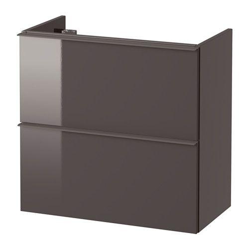 IKEA - GODMORGON, Armario lavabo 2 cajones, alto brillo gris, 60x32x58 cm, , 10 años de garantía. Consulta las condiciones generales en el folleto de garantía.Cajones que se deslizan y cierran suavemente; con tope.El separador te permite modificar fácilmente el tamaño del cajón.Como los cajones son totalmente extraíbles, tendrás tus cosas más a mano.Cajones de madera maciza, con fondo de melamina que no se raya.