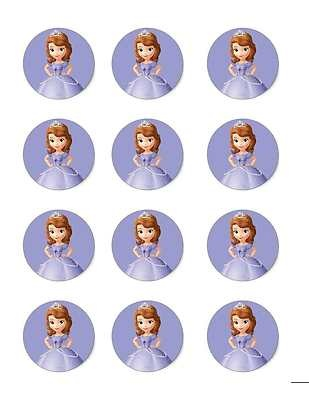 Sofia The First Edible Image Cupcake Toppers 12 per Sheet   eBay