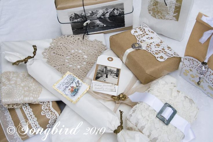 Christmas Gift Wrapping Ideas - Songbird. love them all!