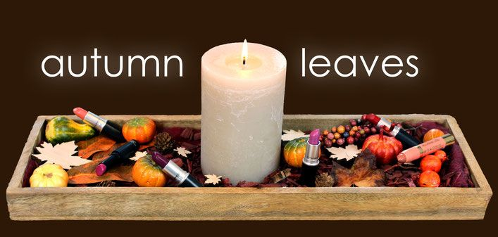 Herbst Lippenstift MAC Autumn Leaves fall leaves Herbst blätter Lippenstift MAC Farben Beere Pfirsich Orange Rot Braun