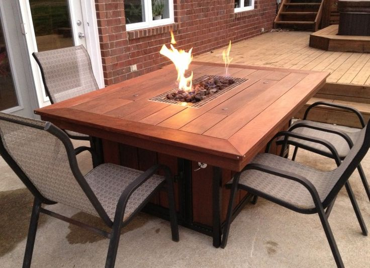 25 best ideas about fire table on pinterest outdoor for Table exterieur diy