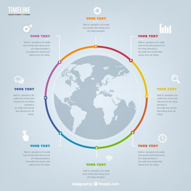 Circular timeline infographic Free Vector