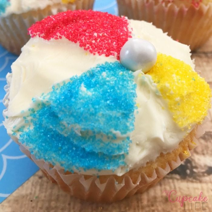 Life is a Beach Ball Cupcakes - My Cupcake Life