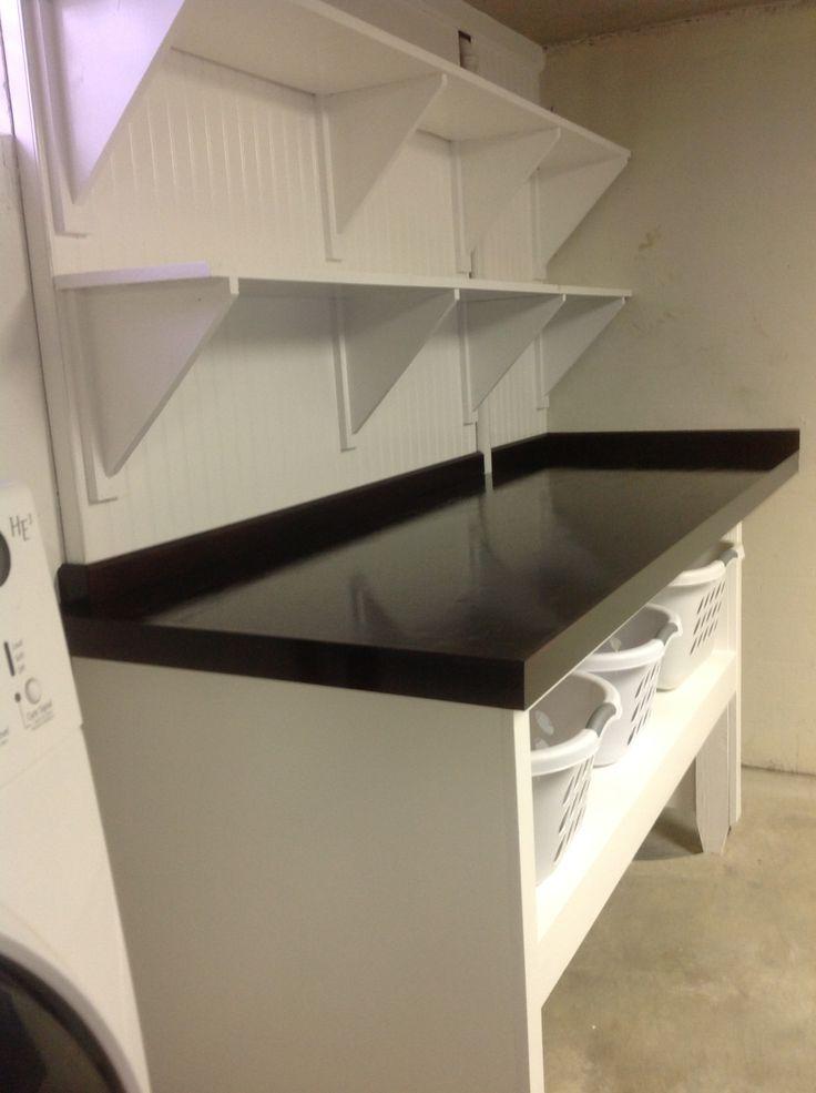Laundry Folding Table And Shelving Laundry Room Pinterest