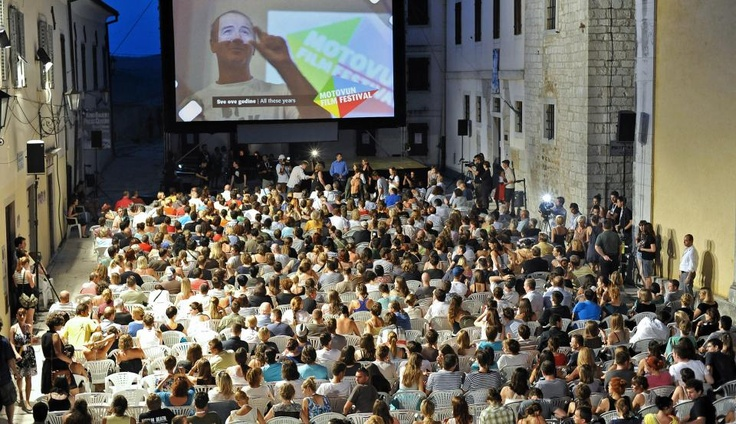 Motovun Film Festival - First Day (Film Hill) movie theater under the sky