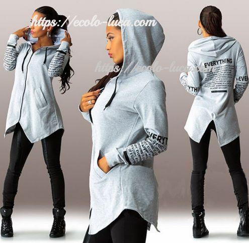 Irregular Zipped Hoodies Sweatshirt – Ecolo.luca