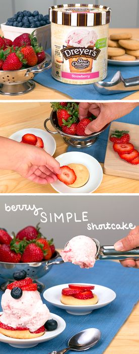 To create our Berry Simple Shortcakes, all you need are shortbread cookies…