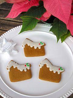 Mini Gingerbread House Cookies