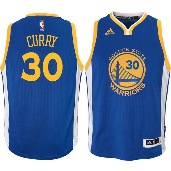 Stephen Curry Golden State Warriors Youth Swingman Basketball Jersey - Royal - $74.99