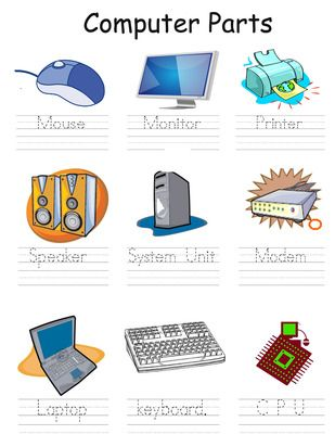 Computer+Parts+from+teacherdag+on+TeachersNotebook.com+-++(1+page)++-+This+is+a+simple+activity+that+teaches+kids+to+write.+It+contains+traceable+words+with+the+name+of+the+computer+parts.+
