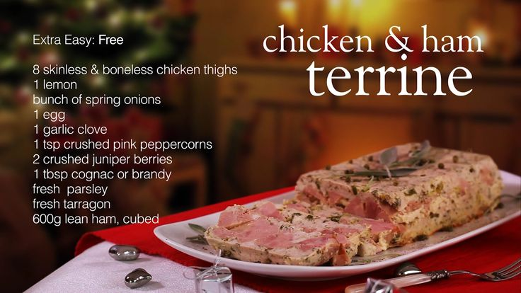 This easy chicken and ham terrine is packed with flavour and makes the perfect Christmas Day starter. It's so handy because it can be made in advance too! Watch our recipe video.