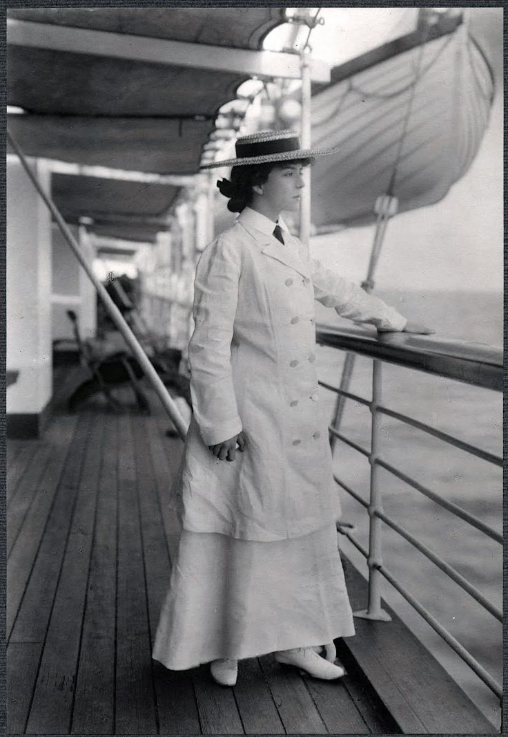 Alice Roosevelt aboard the steamship Manchuria.